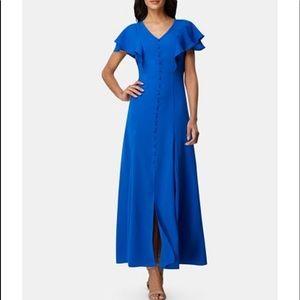 ❣️NWT Tahari flutter sleeve maxi dress
